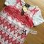 Lady Ribbon Tribal Embroidered Silk Chiffon Midi Dress thumbnail 7