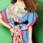 Seoul Secret Colorful Coral Dress thumbnail 5
