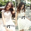 Luxury Lace Dress เดรสผ้าลูกไม้ ทรงคอปิด แต่งเพชรและมุก thumbnail 1