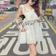Seoul Secret เดรสผ้าคอตตอนสีขาว ทรงคล้องคอ แต่งระบาย thumbnail 5