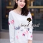 Seoul Secret ชุดเซ็ทเสื้อพิมพ์ลายสีพาสเทล กางเกงสีชมพู thumbnail 5