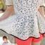 White Lace Blouse เสื้อผ้าลูกไม้สีขาว เอวยางยืด thumbnail 6
