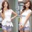 Lady Ribbon เสื้อปักฉลุกุหลาบ ระบายชาย สีขาว ชมพู กรมท่า thumbnail 2