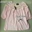 Lady Ribbon เสื้อผ้าคอตตอน สีชมพู ขาว กรมท่า ปักลายดอกไม้ thumbnail 12