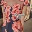 Lady Ribbon มินิเดรสสีกรมท่า พิมพ์ลายดอกไม้ กระโปรงทรง A thumbnail 3
