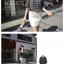 เสื้อตัวยาว ผ้าชีฟอง พิมพ์ลายกราฟฟิก สีขาว สีดำ thumbnail 3