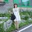เดรสผ้าฝ้ายสีขาว ปักไหมพรมลายดอกไม้ thumbnail 5