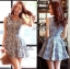 Lady Ribbon Floral Print Cut-Shoulder Mini Dress thumbnail 5