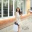 Ice Vanilla Romantic Retro Flower Sleeveless Dress thumbnail 3