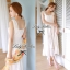 Lady Ribbon Sweet Lace Maxi Dress เดรสยาวผ้าลูกไม้สีครีม thumbnail 1