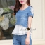 Seoul Secret Pearl Denim Set Chiffon Layer thumbnail 7