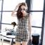 Seoul Secret ชุดเซ็ทเสื้อพร้อมกางเกงขาสั้นลายสก๊อต thumbnail 1