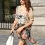 Lady Ribbon Dress เดรสผ้าซาตินลายดอกไม้ thumbnail 1