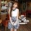 Odee Cutie ชุดเซ็ทเสื้อกับกระโปรงผ้าไหม พร้อมสร้อย Collar thumbnail 1