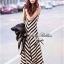 Lady Ribbon B&W Stripe Maxi Korea แม็กซี่ลายขวาง สุด Chic thumbnail 9