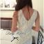 Lady Ribbon V-back Lace Dress เดรสแขนกุดผ้าลูกไม้สีขาว ด้านหลังคอวี thumbnail 2