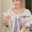 Lady Ribbon เสื้อปักครอสติสเกาหลี สม็อคคอเสื้อ ผูกโบว์ thumbnail 2