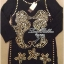 Lady Ribbon Black Dress Seahorse Gold Stud มินิเดรสสีดำ ปักหมุด thumbnail 7