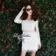 Lady Ribbon Lace Mini Dress มินิเดรสแขนยาว ดีเทลลูกไม้ทั้งตัว thumbnail 1