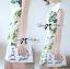 Lady Ribbon Dress เดรสแขนสั้น แต่งลายพิมพ์ดอกไม้สีเขียว thumbnail 2