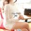 Lady Ribbon Lace Mini Dress มินิเดรสแขนยาว ดีเทลลูกไม้ทั้งตัว thumbnail 7