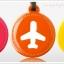 HAPPY FLIGHT Round Luggage Tag ป้ายห้อยกระเป๋าเดินทาง thumbnail 6