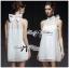 Lady Ribbon Dress เดรสผ้าชีฟองประดับมุกและโบด้านหลัง thumbnail 1