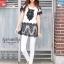 IceVanilla Owl 3D Lace Stitching Dress thumbnail 3