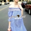 Seoul Secret Sweepy Smocking Chic Dress thumbnail 2