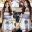 Lady Ribbon Givenchy Print Mini Dress มินิเดรสผ้าซิลค์พิมพ์ลาย thumbnail 7