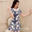 Icevanilla Delicate Flower Pearl and Diamond Print Dress thumbnail 1