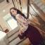 เสื้อแขนยาว ผ้าชีฟอง สีเบจ พิมพ์ลายดอกไม้ thumbnail 5