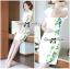 Lady Ribbon Dress เดรสแขนสั้น แต่งลายพิมพ์ดอกไม้สีเขียว thumbnail 7