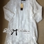 Lady Ribbon Classy Elegant Floral Embellished Dress in White thumbnail 9