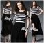 Lady Ribbon Cut-Out Shoulder Striped Maxi Dress thumbnail 4