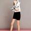 Lady Ribbon เสื้อเชิ้ตพิมพ์ลาย Chanel พร้อมผ้าพันคอ thumbnail 5