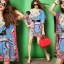 Seoul Secret Colorful Coral Dress thumbnail 2