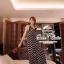 Black&White Zigzag Maxi Dress แม็กซี่เดรสสายเดี่ยว โทนขาวดำ thumbnail 4