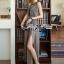 Lady Ribbon Maxi Dress เดรสยาวผ้าชีฟองผ่าข้าง ขายพร้อมเข็มขัด thumbnail 1