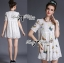 Lady Ribbon Butterfly Embroidered Lace Mini Dress thumbnail 2