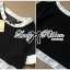 Lady Ribbon Minimal Chic Set ชุดเซ็ทเสื้อครอปและกระโปรง สีขาวดำ thumbnail 12