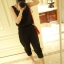 จั๊มสูทผ้าชีฟองสีดำ สีชมพู สม็อคเอว thumbnail 5