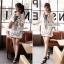Lady Ribbon Embroidery Chiffon Dress เดรสปักลาย ผ้าชีฟอง thumbnail 9