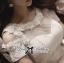 Lady Ribbon เดรสตัดต่อผ้าซีทรู ช่วงอกประดับมุกและดอกไม้สุดหรู thumbnail 5