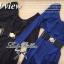 Lady Ribbon จั๊มสูทขายาวสีน้ำเงิน สีดำ ช่วงอกจีบระบาย thumbnail 9