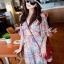 Molly Print Dress ชุดเดรสพิมพ์ลาย ผ้าชีฟองเกาหลี thumbnail 1