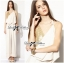 Lady Ribbon Sexy Gold Sequin Nude Jumpsuit thumbnail 4