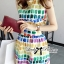 Lady Ribbon Lady Coco Chanel Colorful Painting Dress Set thumbnail 3