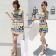 Lady Ribbon Lady Coco Chanel Colorful Painting Dress Set thumbnail 2