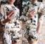 Lady Ribbon Set เซ็ตเสื้อแจ๊คเก็ต กางเกงขาสั้นพิมพ์ลายดอกไม้ thumbnail 4